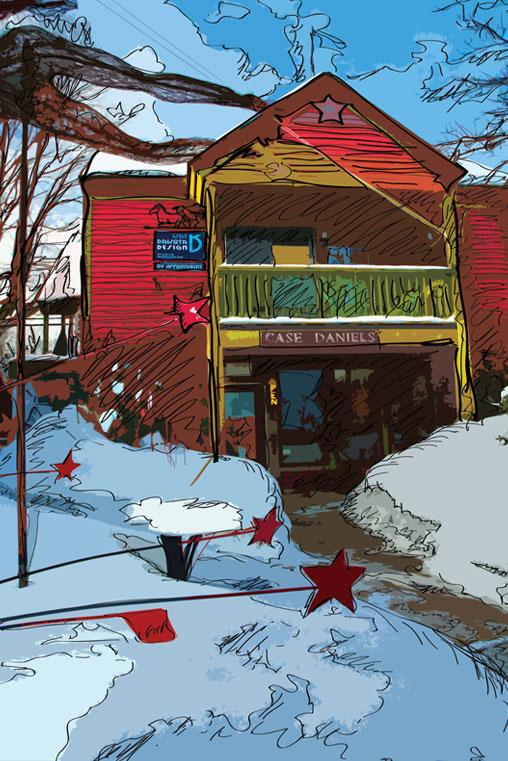 Kat Dakota Design Studio Suttons Bay MI Winter Scene