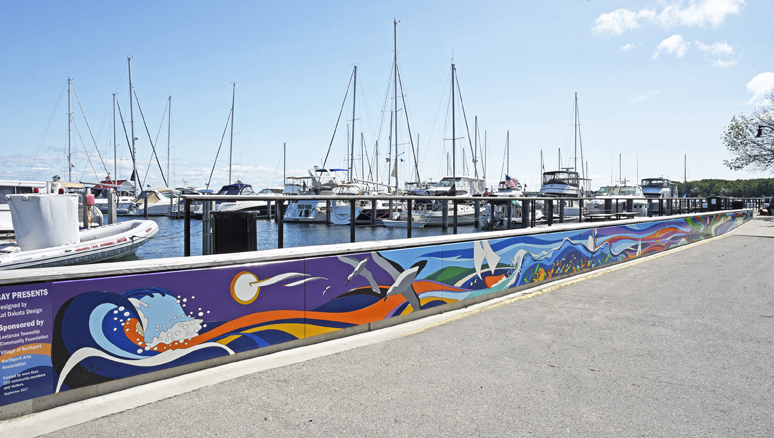Kat Dakota Bay Presents Mural Northport Marina