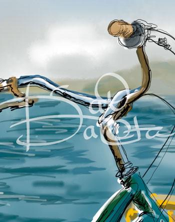"Kat Dakota Design Digital Original Arts Bike Image ""Simple Life's Riches"""