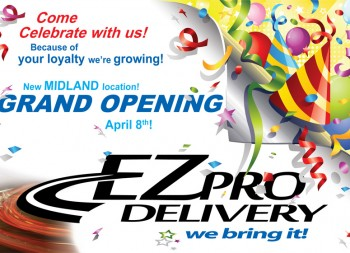 EZ Pro Delivery Grand Opening Post Card