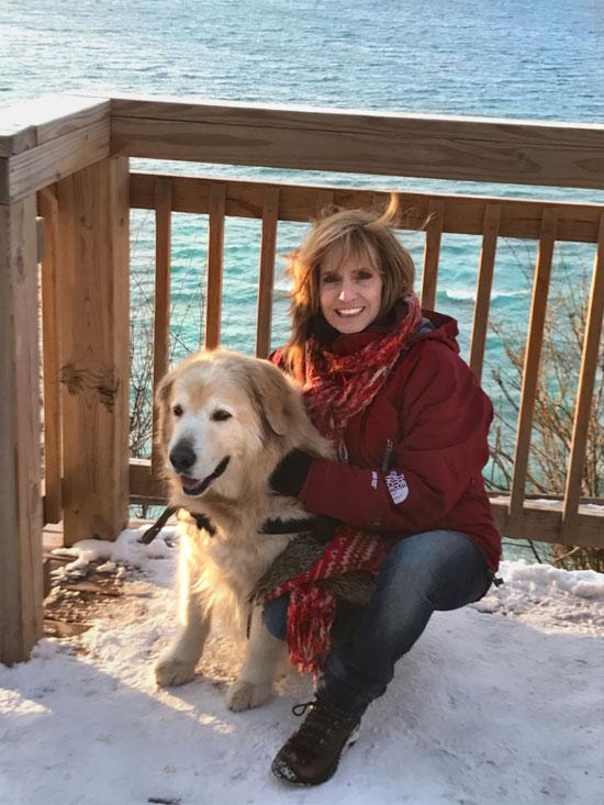 Kat Dakota with her dog Bo - Leland Clay Clifts