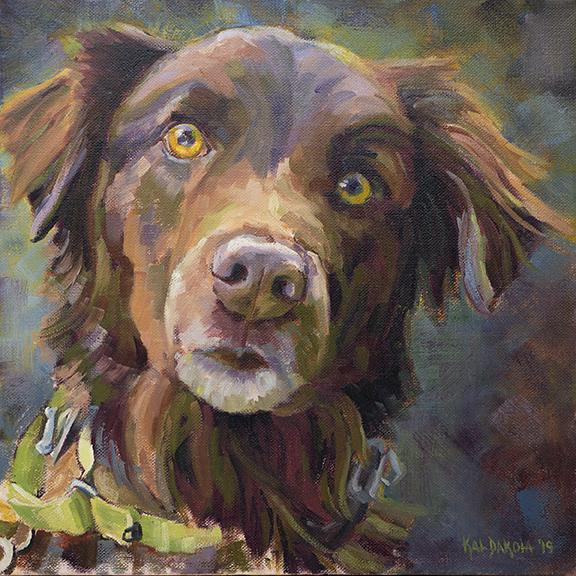 Retriever Nova Scotia Duck Tolling Kat Dakota Oil Painting Pet Portrait
