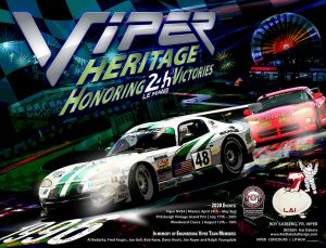 Viper Honoring 24H Le Mans Victories 2020 Poster